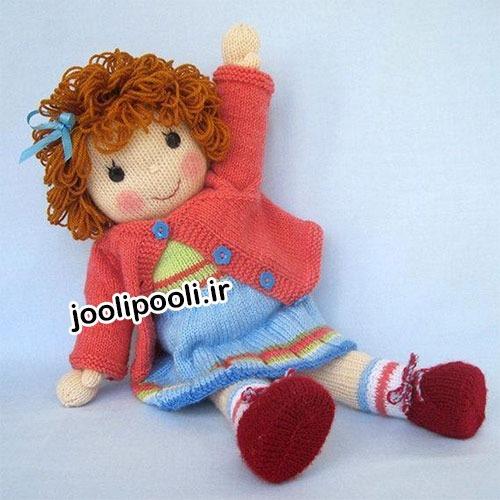 عروسک بافتنی دو میل دختر