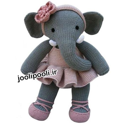 عروسک بافتنی فیل