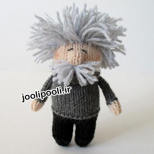عروسک انیشتین بافتنی