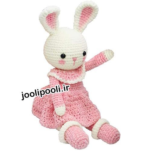 عروسک بافتنی خرگوش