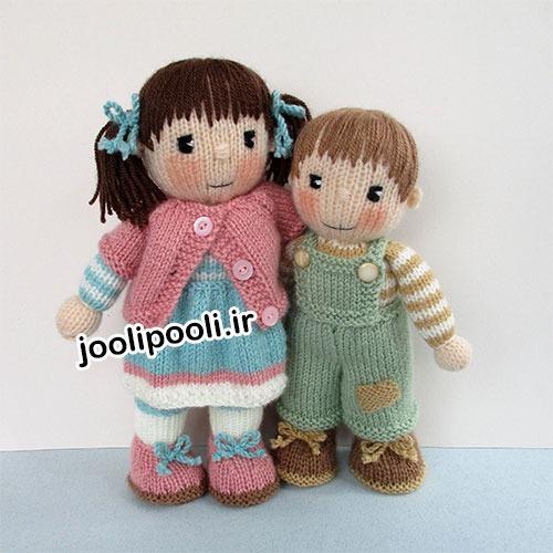 عروسک بافتنی ست دخترانه و پسرانه