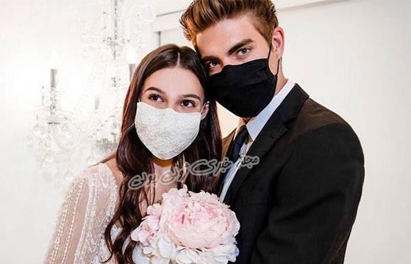 ماسک ست عروس و داماد در دوران شیوع ویروس کرونا
