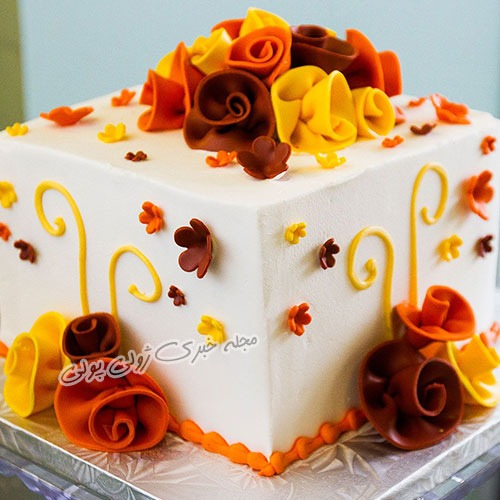 کیک جشن تولد پاییزی