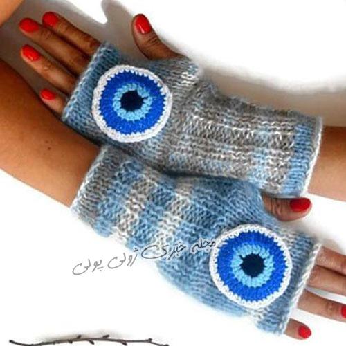 مدی جدید دستکش بدون انگشت بافتنی