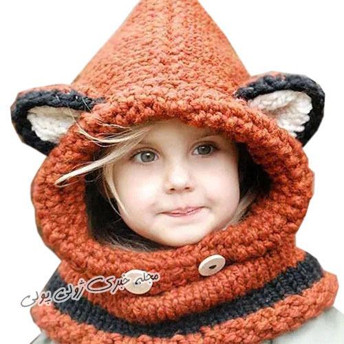 کلاه مدل خرگوشی بافتنی دخترانه