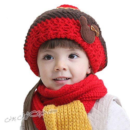 جدیدترین مدل ست کلاه و شال گردن بافتنی پسرانه