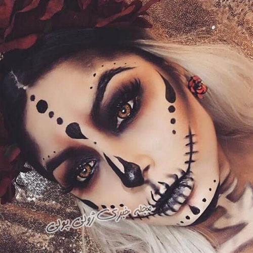 آرایش صورت برای جشن هالووین