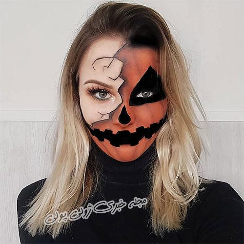 آرایش کدو تنبل ویژه هالووین