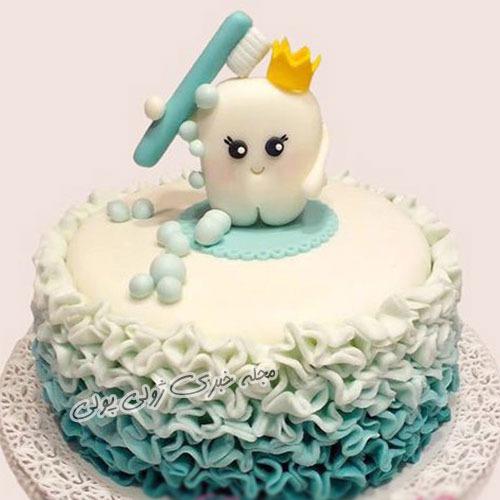 عکس کیک جشن دندونی