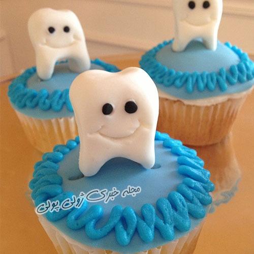 کاپ کیک برای جشن دندونی
