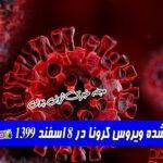 آمار بروز شده ویروس کرونا در 8 اسفند 1399
