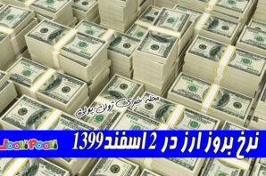 نرخ بروز ارز در ۲ اسفند۱۳۹۹